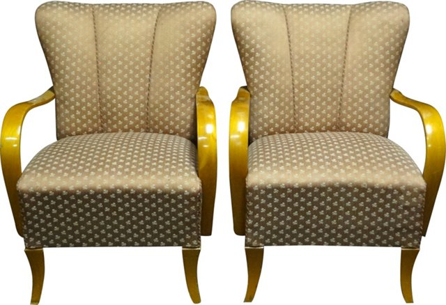 Art Deco Chairs, Pair
