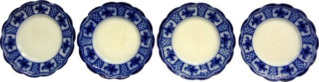 Country Floral Plates, Set of 4