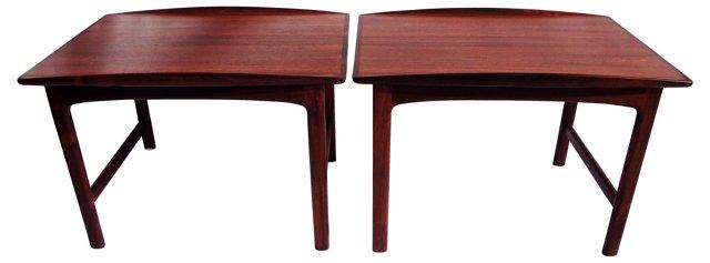Teak Side Tables, Pair