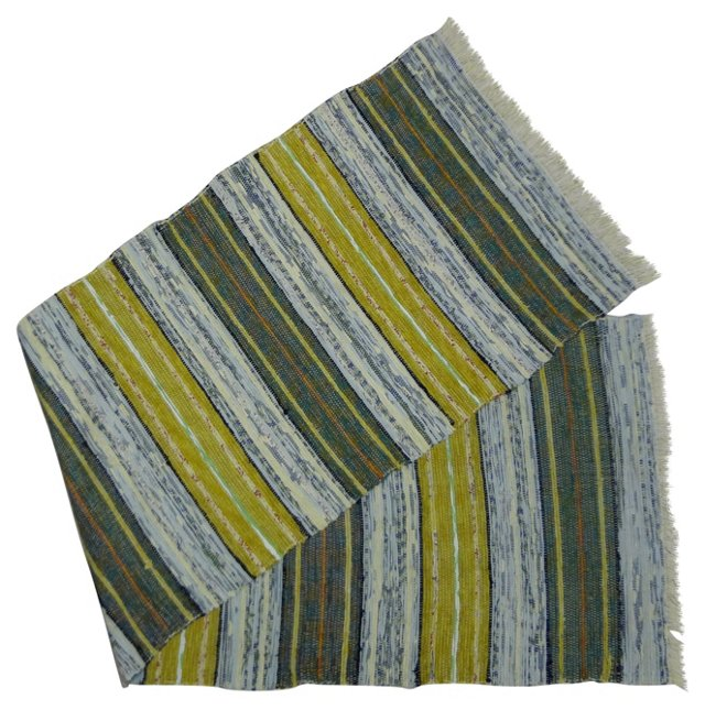 Swedish Rag Rug,  8' x 2'4''