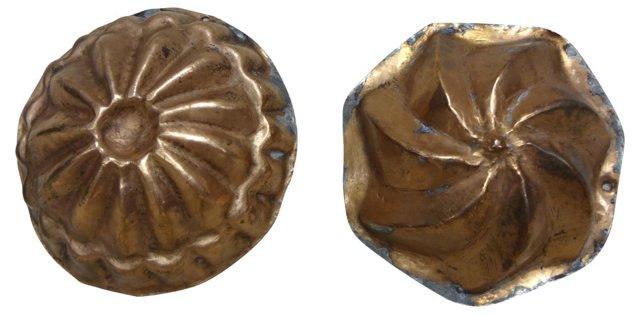 Copper  Baking          Molds, Pair