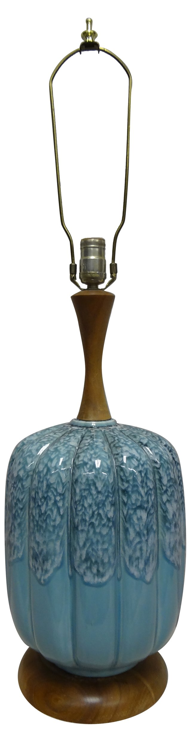 Ceramic  &  Wood   Lamp