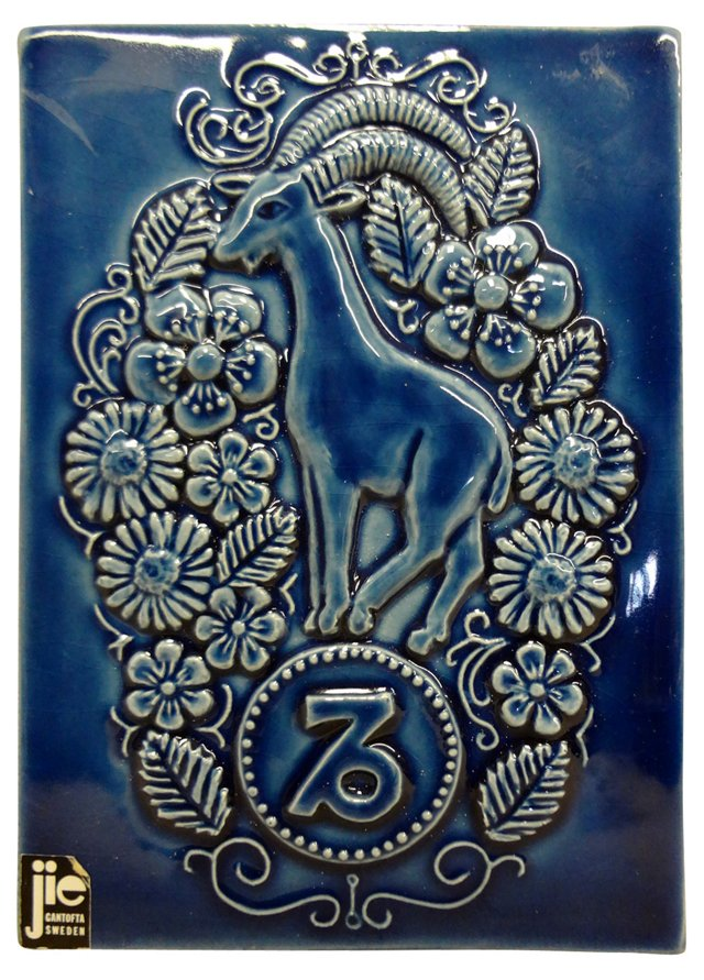 Swedish  Zodiac   Ceramic  Plaque