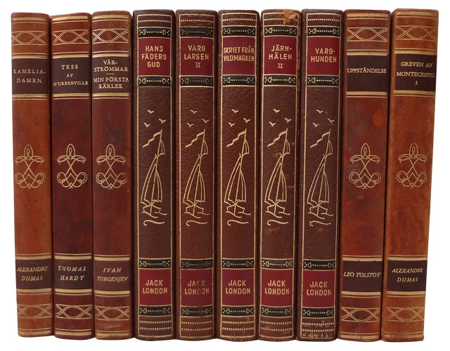 Swedish  Decorative  Books, Set of 10