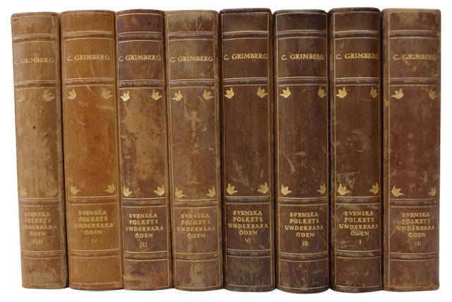 Swedish Decorative Books, Set of 8