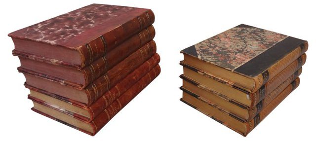 Swedish   Decorative   Books, Set of 9