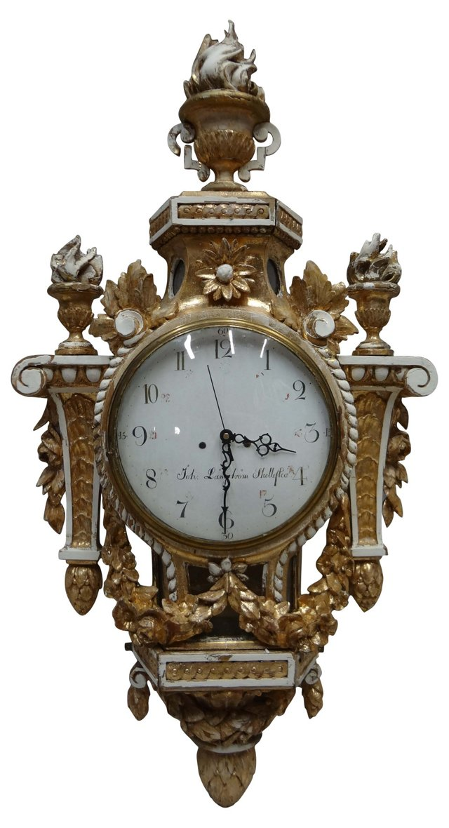 Swedish Gustavian Wall  Clock
