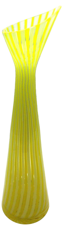 Yellow Swirl Murano Vase