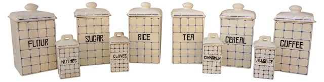 Kitchen Canister  Set, S/10