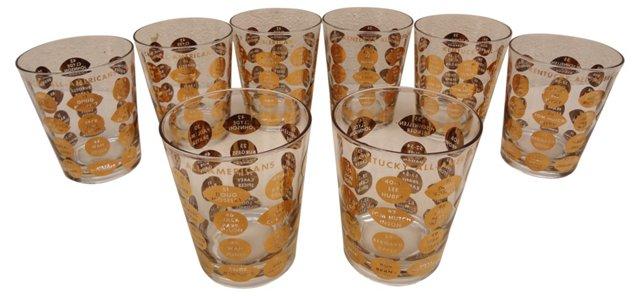 Kentucky All-American Glasses, S/8