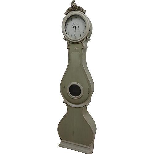 19th-C. Swedish Longcase Clock