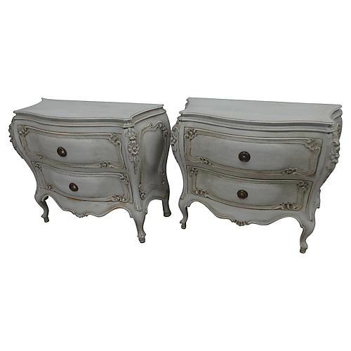 Swedish Rococo-Style Dressers, Pair