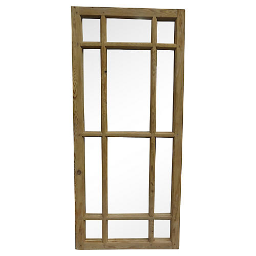 Antique Swedish Window Mirror