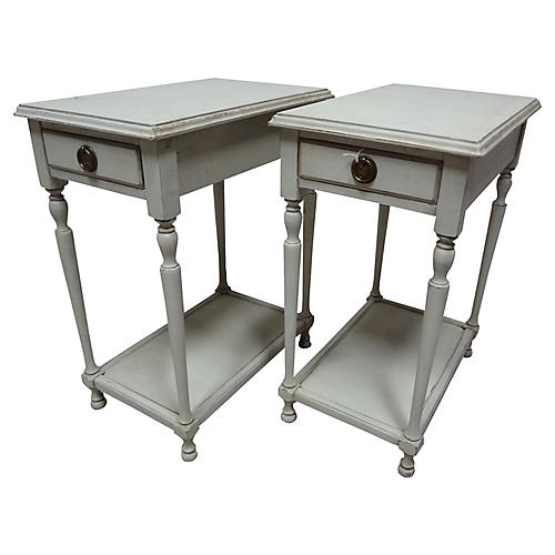 Gustavian-Style Side Tables, S/2