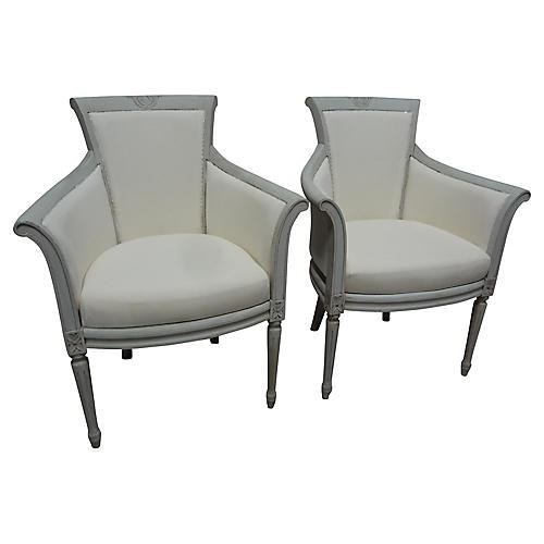 Gustavian-Style Armchairs, S/2