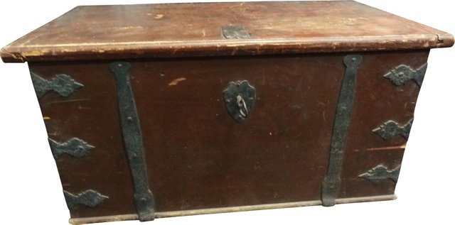 18th-C. Painted Swedish Trunk