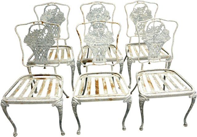 Garden Chairs, Set of 6