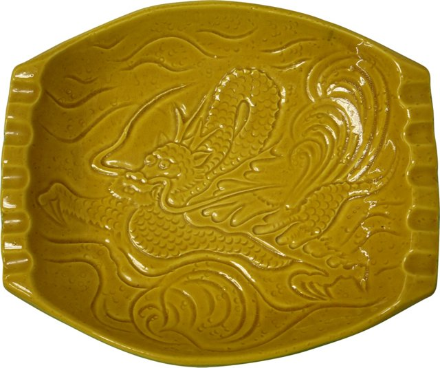 Ceramic Dragon Ashtray