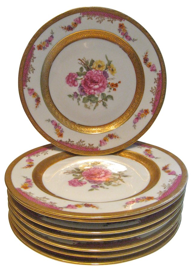 Gold-Decorated Plates, S/8