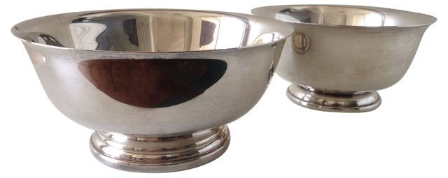 Silverplate Serving Bowls, Pair