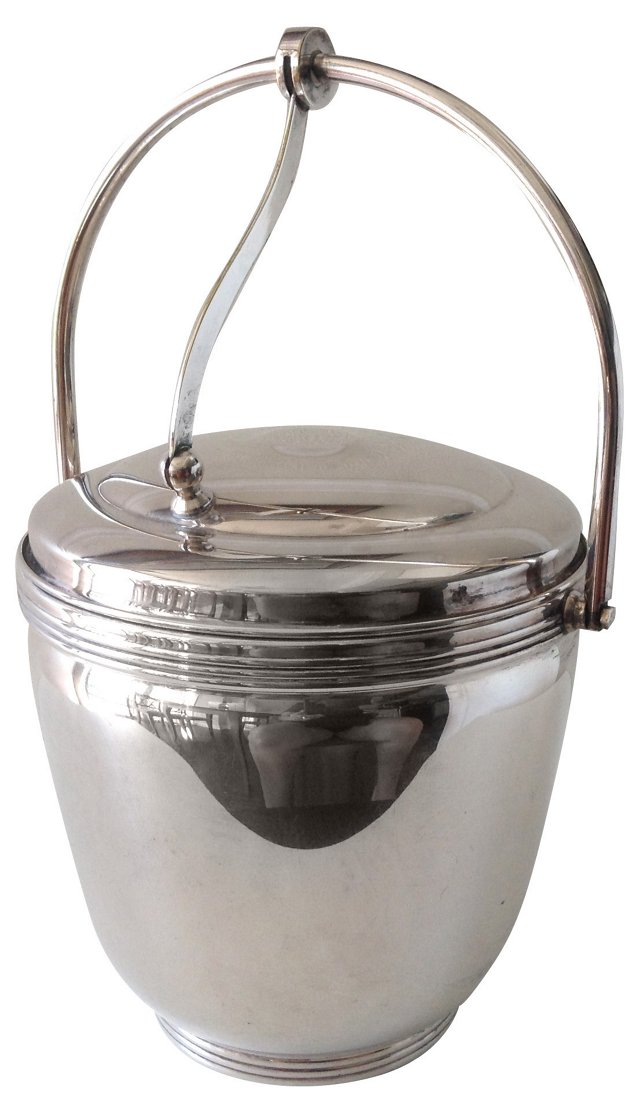 Sheffield Art Deco Ice Bucket
