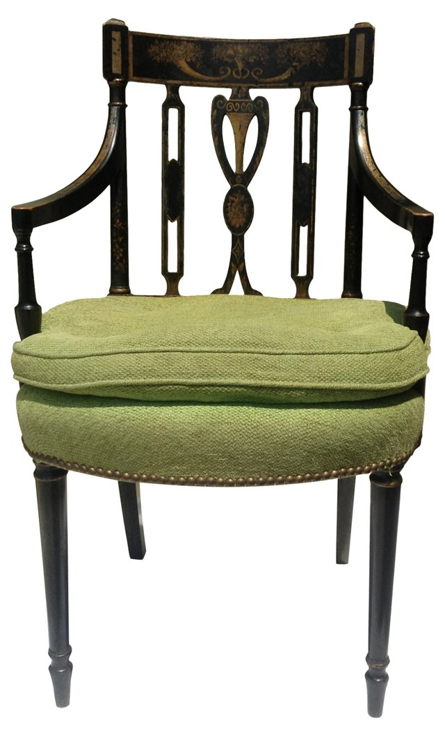 Italian Hand-Painted Armchair