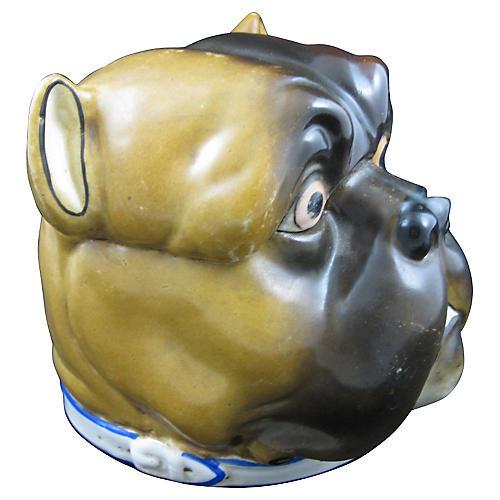19th C. English Bulldog Covered Jar