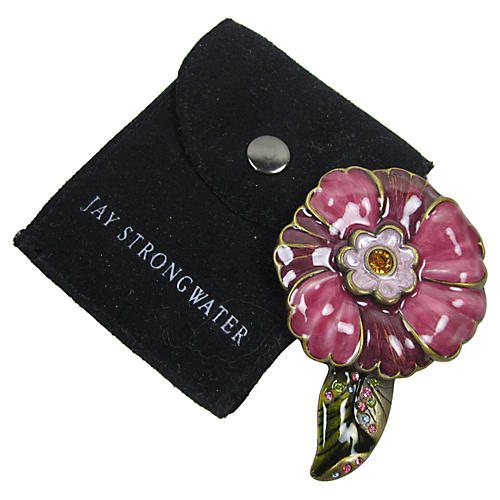 Jay Strongwater Purse Mirror & Pouch