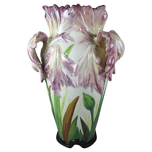 Massier Parrot Tulip Vase, C. 1880