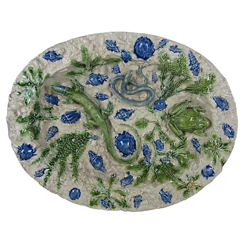 Palissy School of Paris Footed Bowl