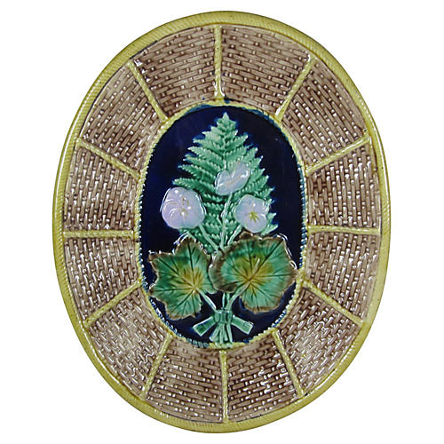 Majolica Wicker & Fern Cheese Board