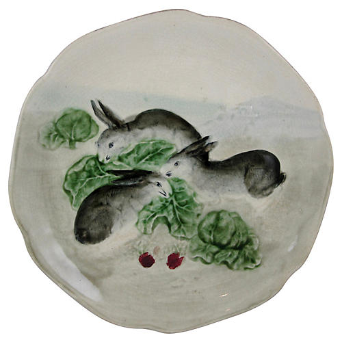 French Choisy Le Roi Rabbit Plate