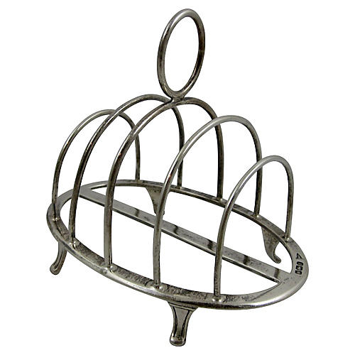 English Sterling Toast Rack