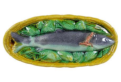 Majolica Lavender Fish Basket