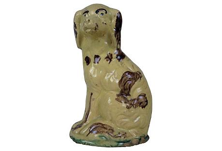 American Primitive Spaniel Dog Bank