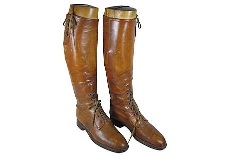 Edwardian English Riding Boots & Trees