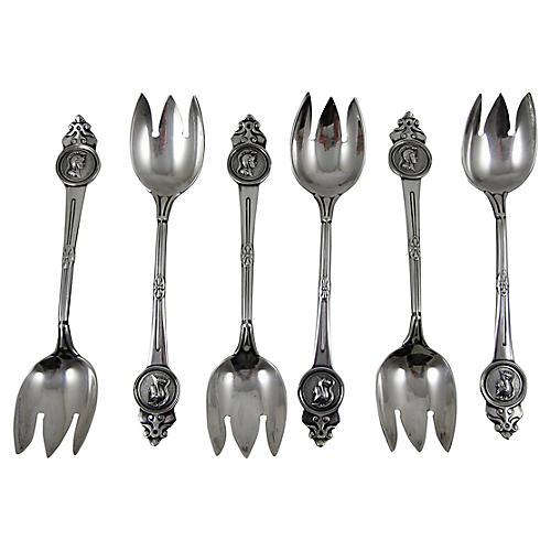 Gorham Sterling Dessert Forks, S/6
