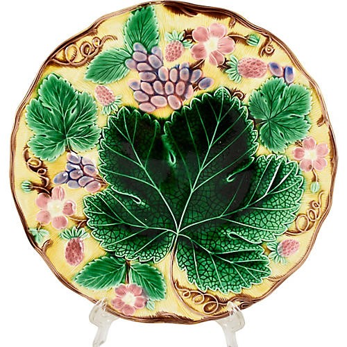 Wedgwood Yellow Grape Leaf Plate