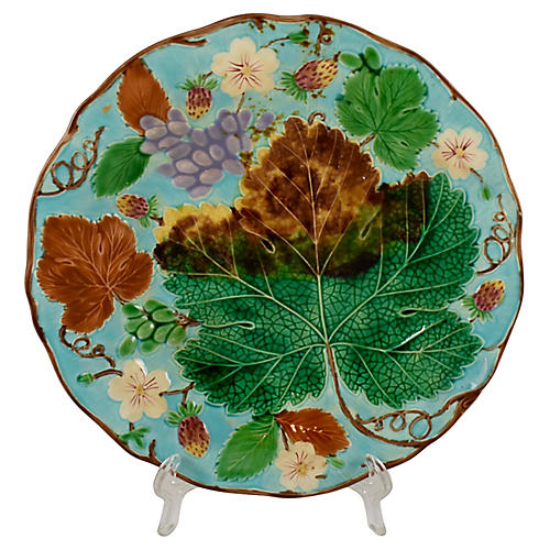 Wedgwood Turquoise Grape Leaf Plate
