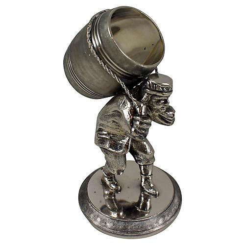Man & Barrel Silver Napkin Ring