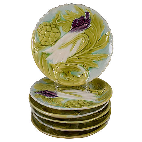 Orchies French Asparagus Plates, S/6