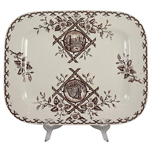 19th-C. Transferware Platter