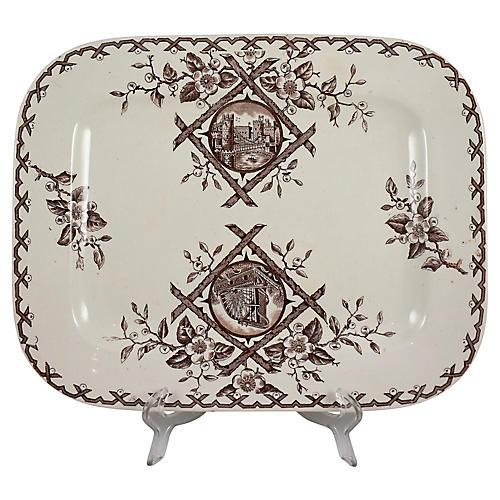 19th-C. Aesthetic Transferware Platter