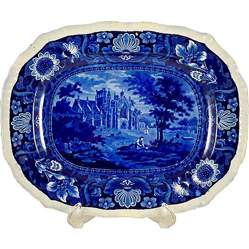 R. Stevenson Transferware Castle Platter