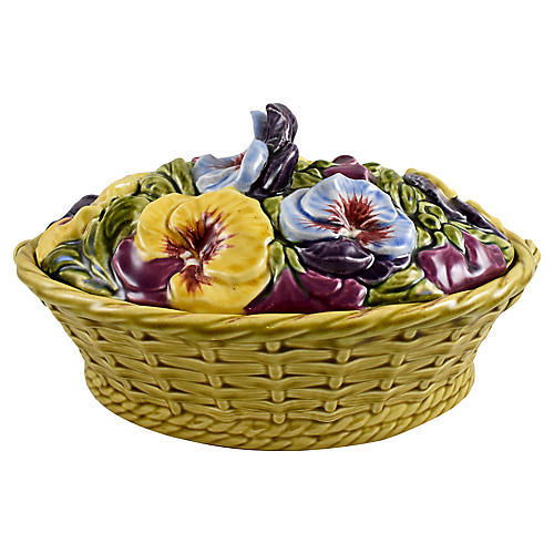 Basket of Pansies French Tureen