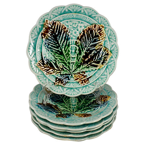 Villeroy & Boch Chestnut Leaf Plates S/6