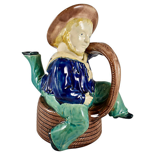 Isle of Man 3-Legged Sailor Teapot