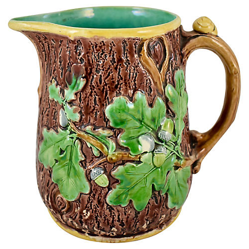 Minton Oak Leaf & Snail Pitcher