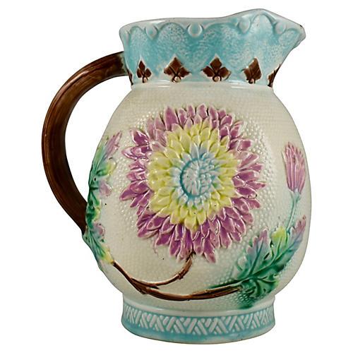 English Pastel Floral Large Pitcher