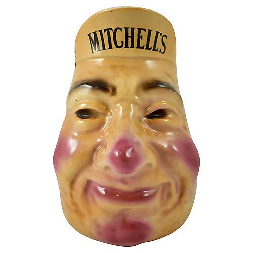 Irish Whiskey Advertising Face Jug